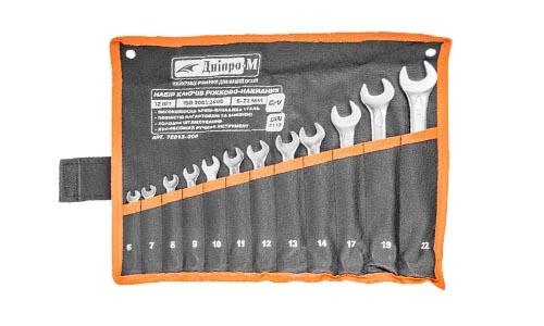 Характеристика товара «Набор ключей рожково-накидных Дніпро-М (12 шт.) (6-14, 17, 19, 22 мм)» - фото №2