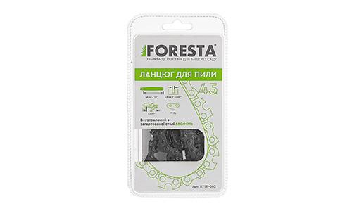 Характеристика товара «Цепь к бензопиле Foresta 72 зв., 45 см шаг 0,325