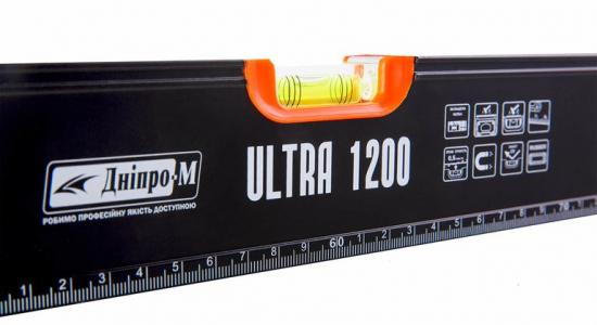 Характеристика товара «Уровень строительный Дніпро-М Ultra 1200 мм» - фото №1