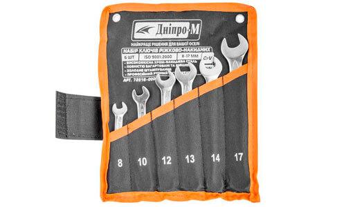 Характеристика товара «Набор ключей рожково-накидных Дніпро-М (6 шт.)» - фото №2