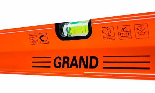 Характеристика товара «Уровень строительный Grand 1000 мм» - фото №1