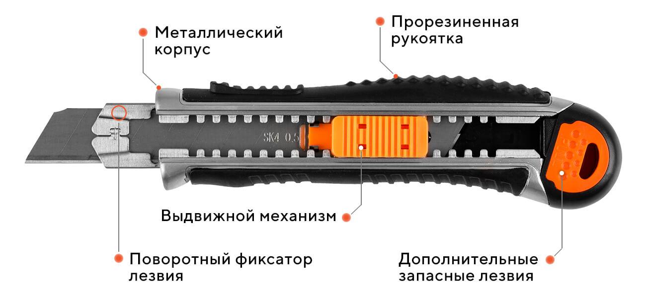 Нож сегментный ULTRA 07G - D1, 18 мм