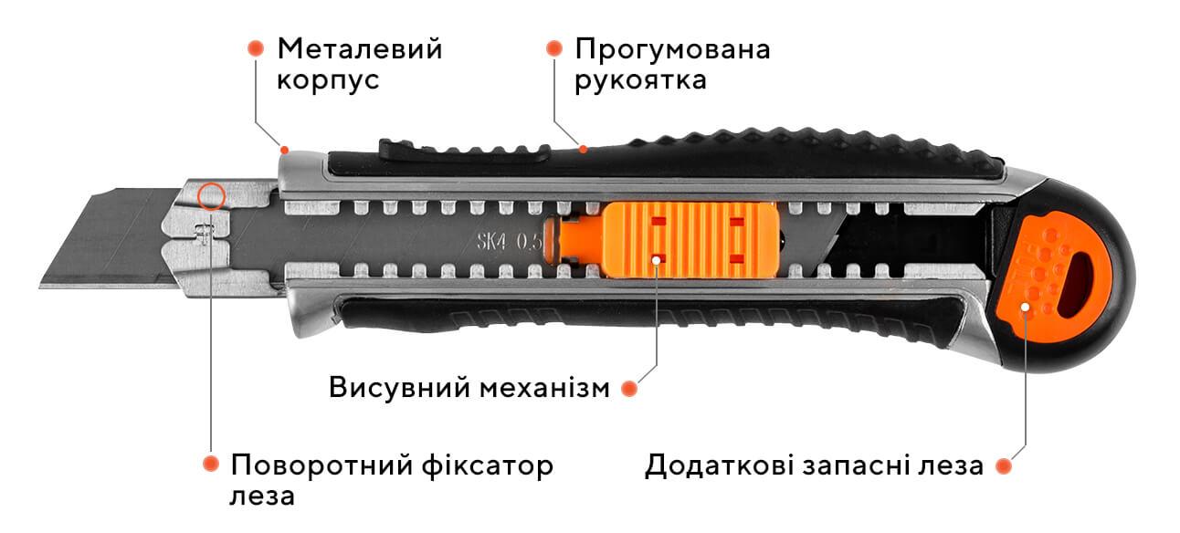 Ніж сегментний ULTRA 07G - D1, 18 мм