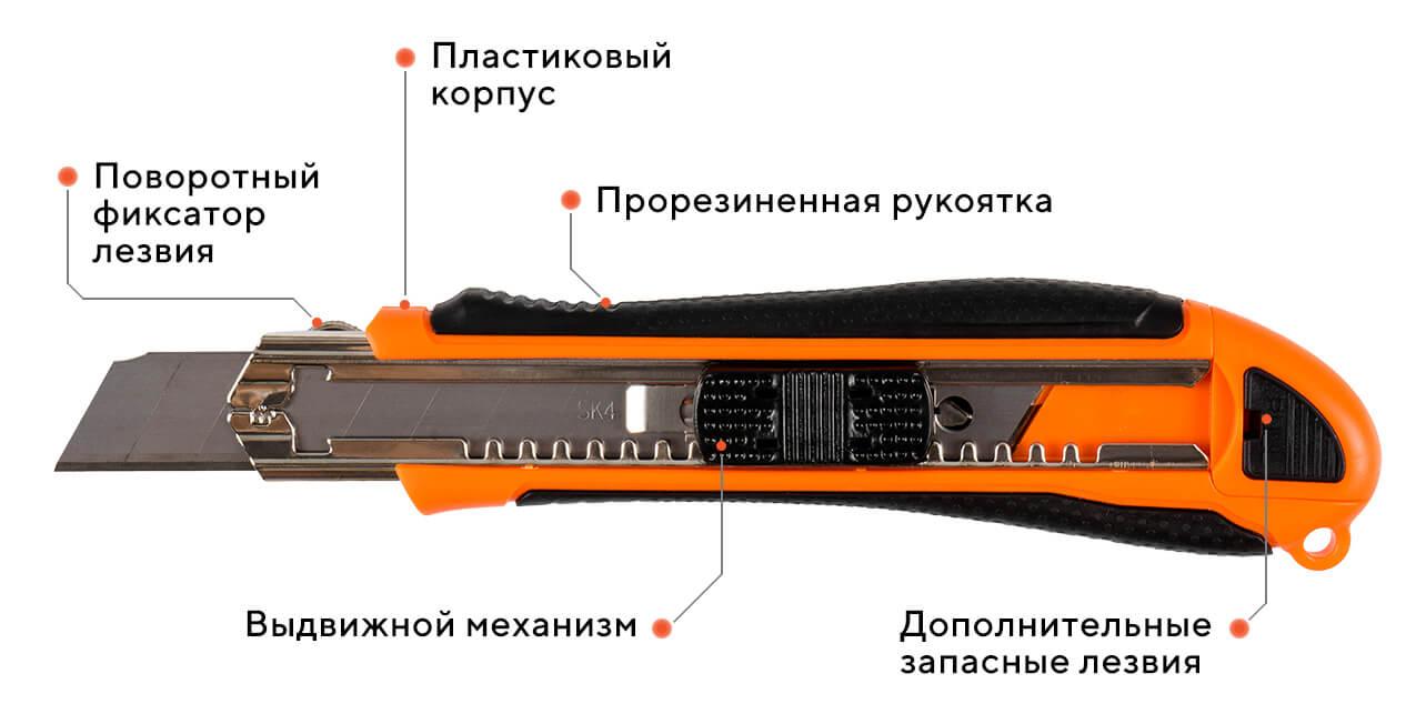 Нож сегментный 07G-D4,18 мм