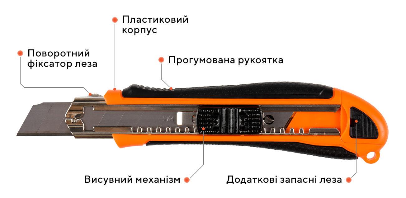 Ніж сегментний 07G-D4,18 мм