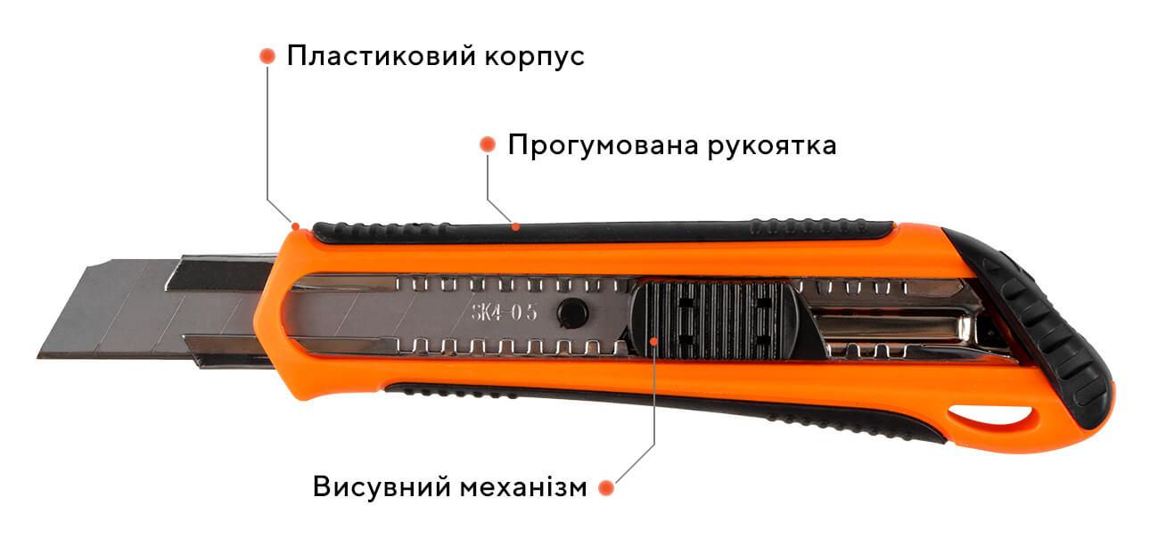 Ніж сегментний 07G-D5, 18 мм