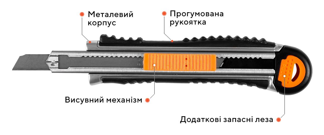 Ніж сегментний ULTRA 07G - D2, 9 мм