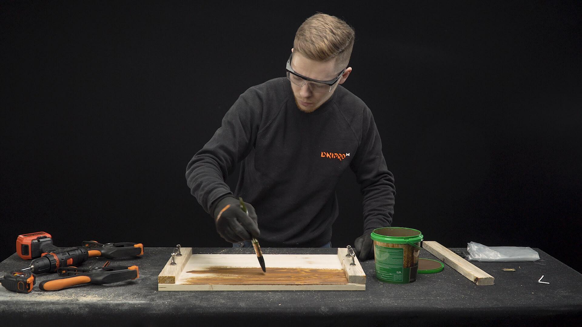 Фото-инструкция по изготовлению подноса своими руками - Шаг 10