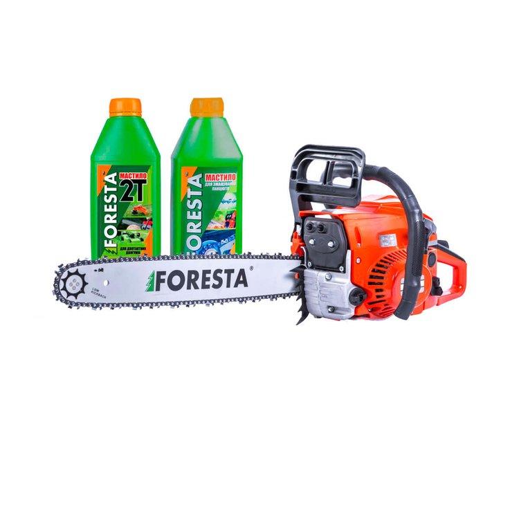 Бензопила цепная Foresta FA-45S + 2 масла