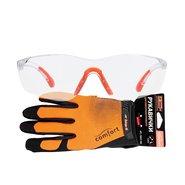 Перчатки для электроинструмента Дніпро-М Comfort L + Очки защитные Comfort