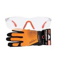 Перчатки для электроинструмента Дніпро-М Comfort XL + Очки защитные Comfort