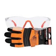 Перчатки для электроинструмента Дніпро-М Ultra XXL + Очки защитные Comfort