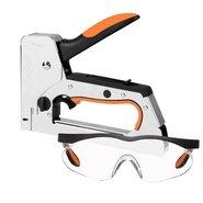 Степлер строительный Dnipro-M GT-614T + очки защитные Profi