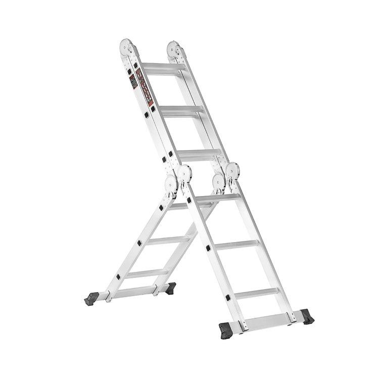 Лестница алюминиевая трансформер Dnipro-M MP-43 + Набор ключей рожково-накидных фото №7