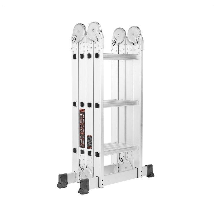 Лестница алюминиевая трансформер Dnipro-M MP-43 + Набор ключей рожково-накидных фото №8