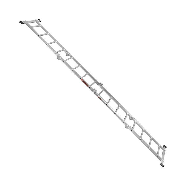 Лестница алюминиевая трансформер Dnipro-M MP-44 4,7 м + Набор ключей рожково-накидных фото №6