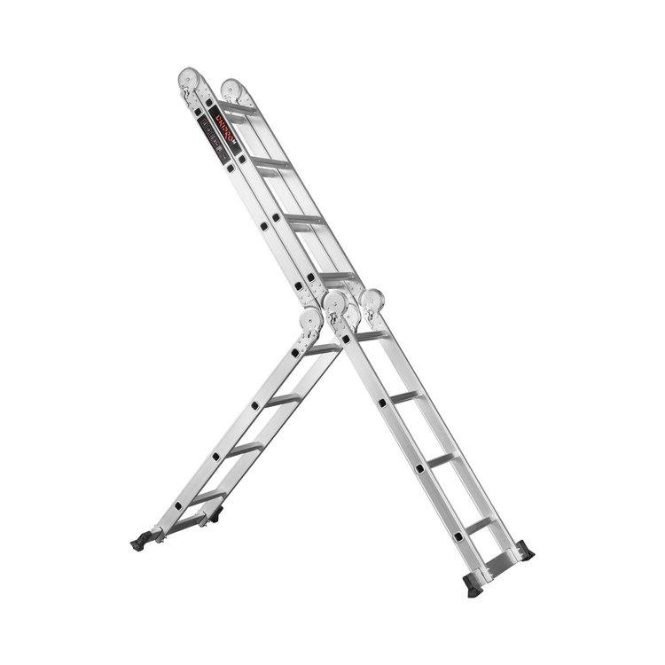 Лестница алюминиевая трансформер Dnipro-M MP-44 4,7 м + Набор ключей рожково-накидных фото №11