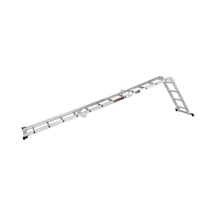 Лестница алюминиевая трансформер Dnipro-M MP-44 4,7 м + Набор ключей рожково-накидных фото №12