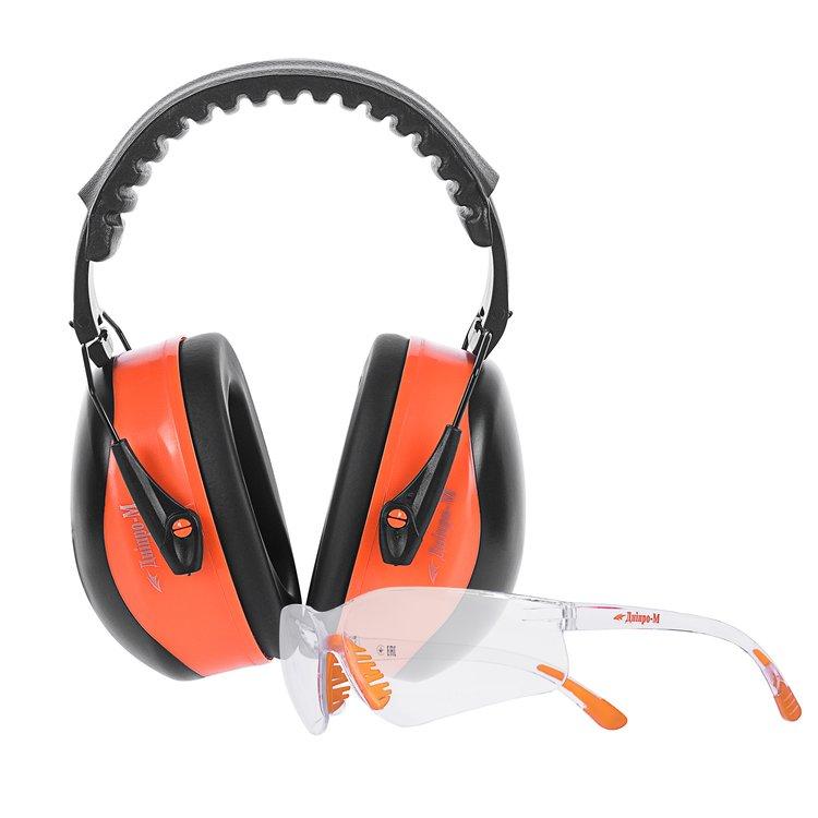 Наушники защитные Дніпро-М Profi + очки Comfort