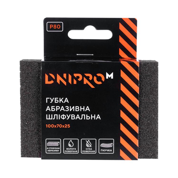 Губка абразивная шлифовальная Dnipro-M Р80 мягкая