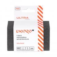 Губка абразивная шлифовальная Dnipro-M Ultra Р60 жесткая