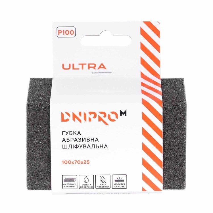 Губка абразивная шлифовальная Dnipro-M Ultra Р100 жесткая