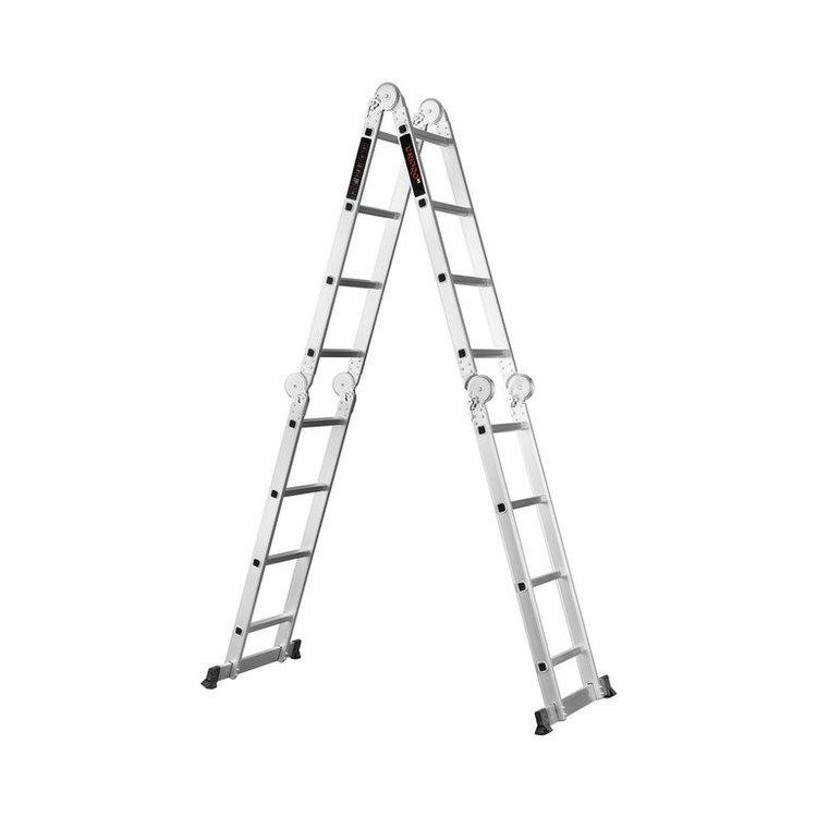 Лестница алюминиевая трансформер Dnipro-M MP-44Р 4,7 м + Шпатель фасадный Ultra 600 мм фото №2
