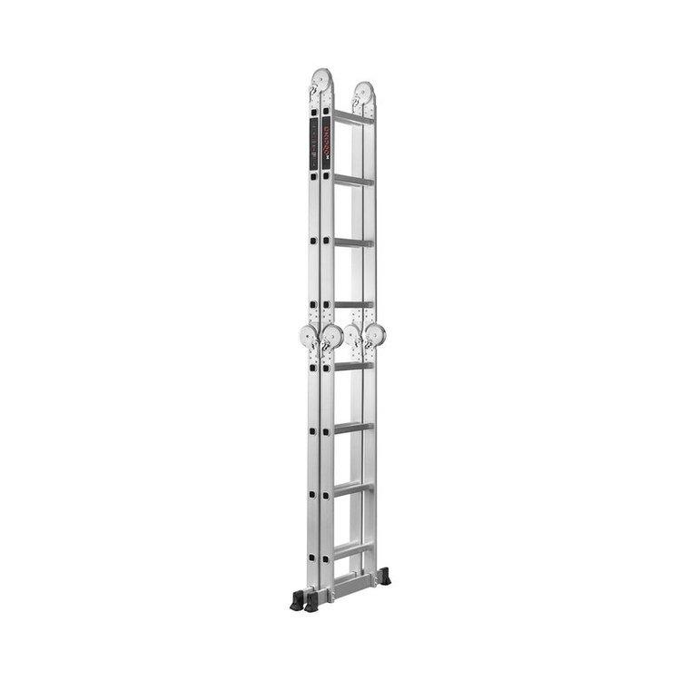 Лестница алюминиевая трансформер Dnipro-M MP-44Р 4,7 м + Шпатель фасадный Ultra 600 мм фото №4