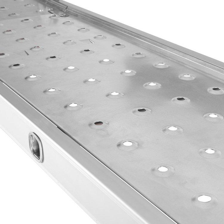 Лестница алюминиевая трансформер Dnipro-M MP-44Р 4,7 м + Шпатель фасадный Ultra 600 мм фото №8