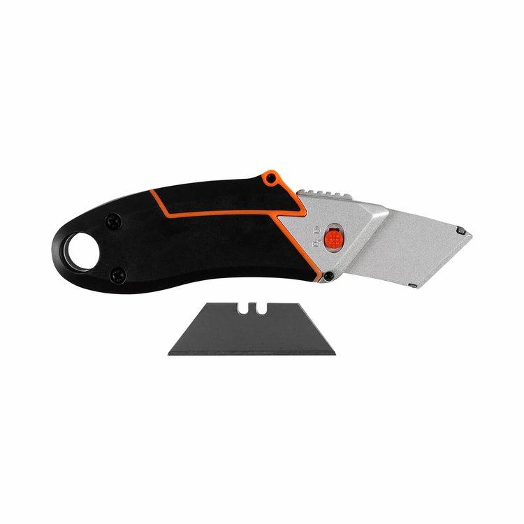 Нож выдвижной трапециевидный Dnipro-M Ultra 61,5*18 мм + Набор лезвий трапециевидных Ultra фото №6