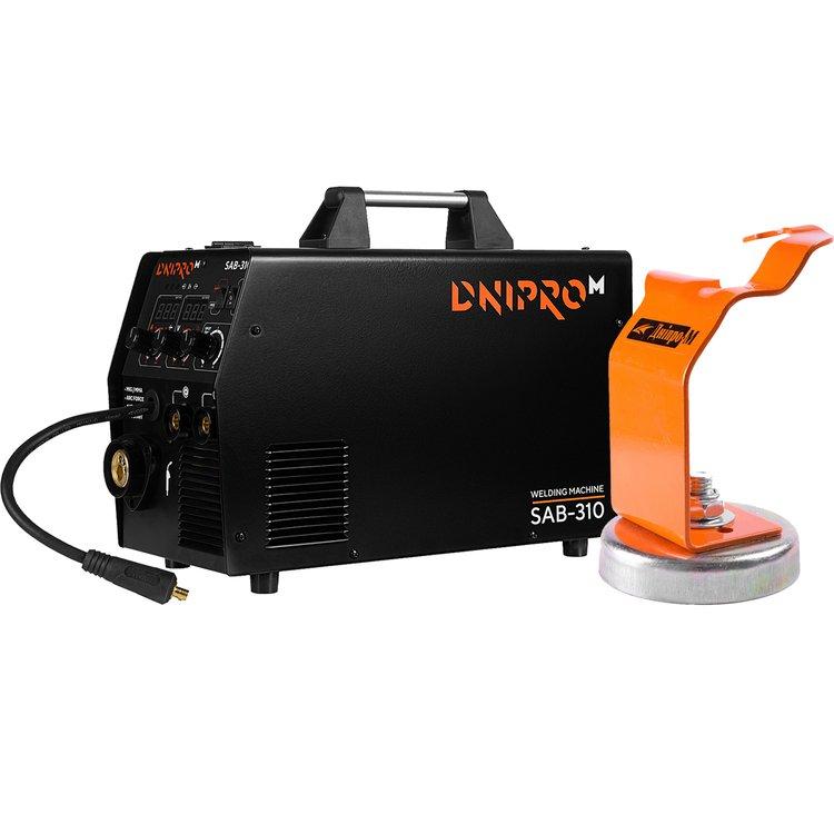 Полуавтомат инверторный IGBT Dnipro-M SAB-310 + Магнитная подставка для горелки TW-720