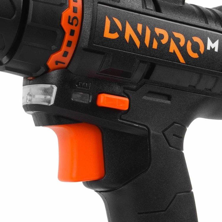 Аккумуляторная дрель-шуруповёрт Dnipro-M CD-182 + Дополнительная батарея фото №9