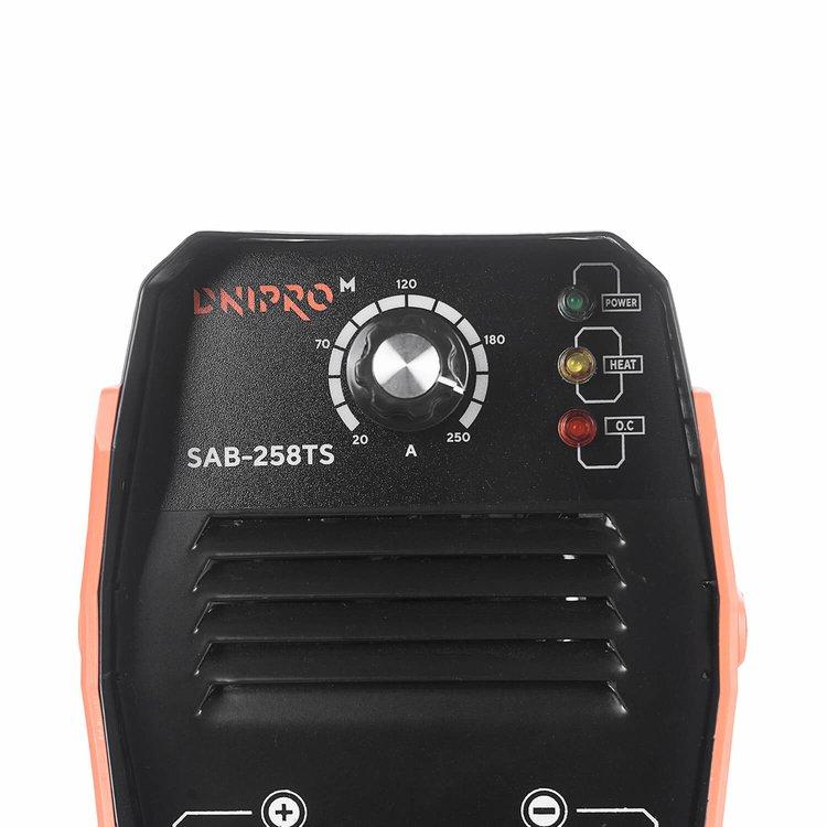 Сварочный аппарат IGBT Dnipro-M SAB-258TS + Маска сварщика WM-31 фото №6
