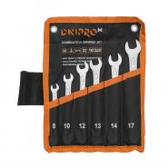 Набір ключів рожково-накидних Dnipro-M (6 шт.) (8, 10, 12, 13, 14, 17 мм)