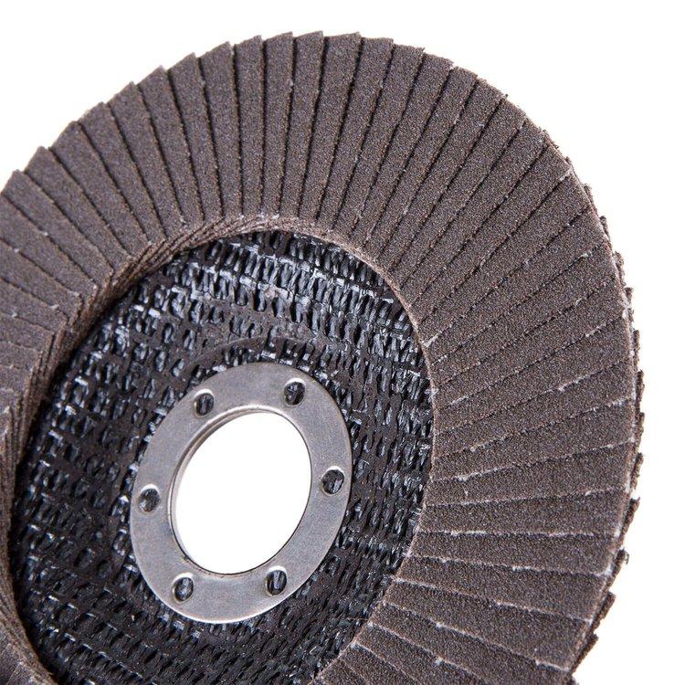 Круг лепестковый торцевой Дніпро-М Р120, 5 шт/уп фото №4