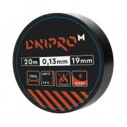 Изоляционная лента Dnipro-M 20 м 19 мм 0,13 мм черный 4000 В