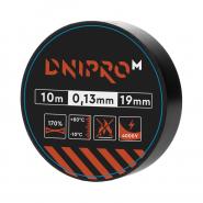 Изоляционная лента Dnipro-M 10 м 19 мм 0,13 мм черный 4000 В
