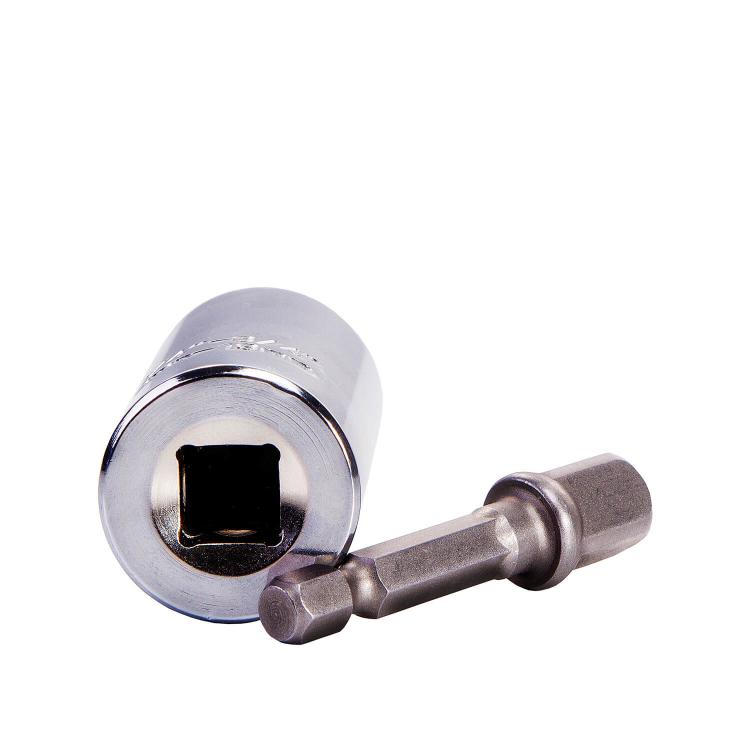 Отвертка Dnipro-M торцевая головка 7-19 мм с адаптером Cr-V фото №3