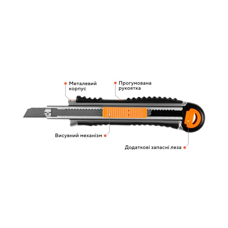 Лестница алюминиевая телескопическая Dnipro-M TL138 3.8 м + Нож сегментный Ultra 9 мм фото №7
