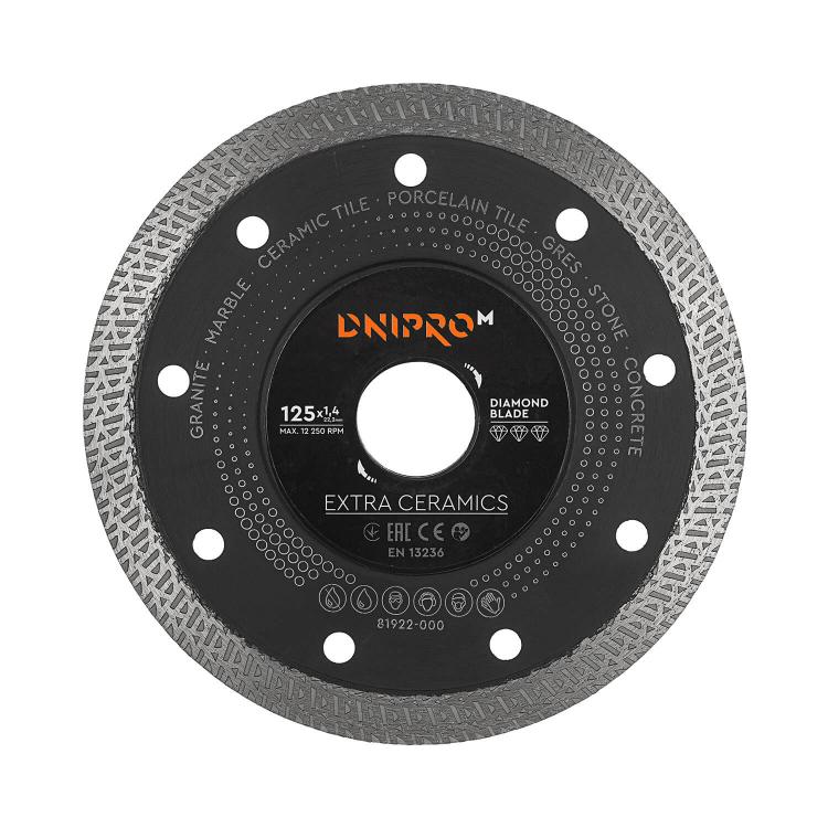 Шлифмашина угловая Dnipro-M GS-140SE + Алмазный диск 125 22.2 Extra-Ceramics фото №7