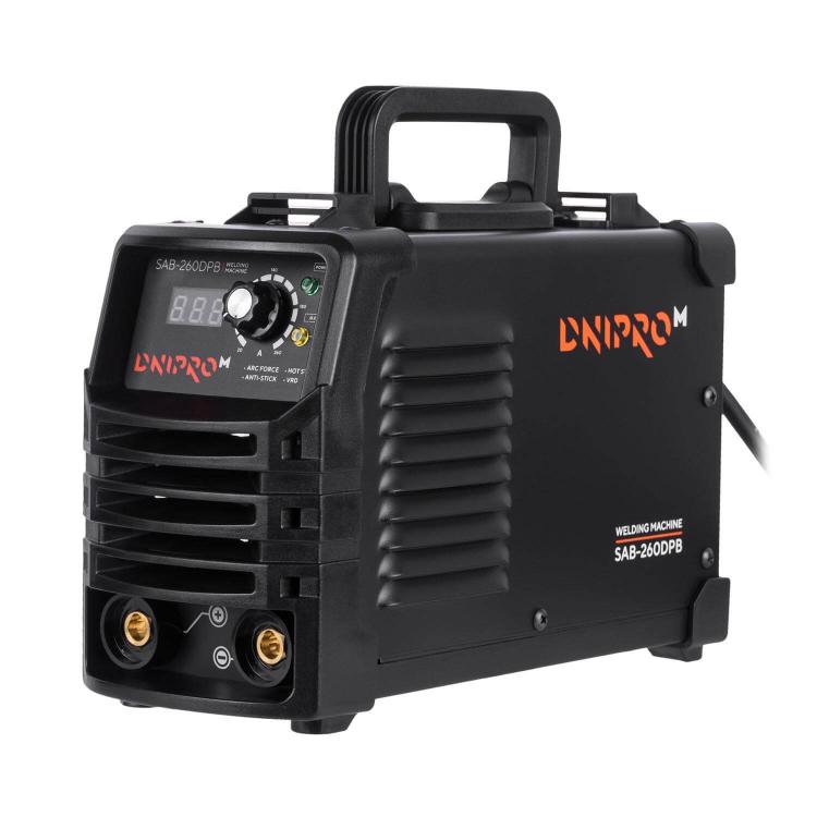 Сварочный аппарат IGBT Dnipro-M SAB-260DPB + Краги + Магнитный угольник фото №2