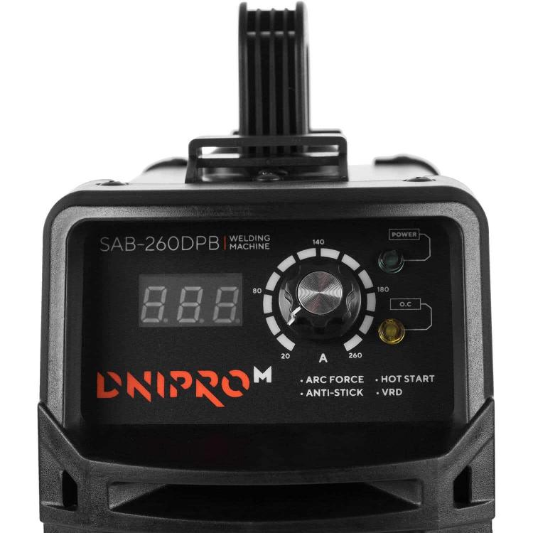 Сварочный аппарат IGBT Dnipro-M SAB-260DPB + Краги + Магнитный угольник фото №5