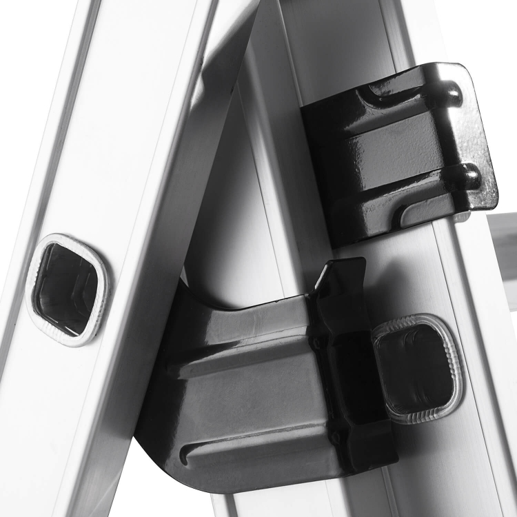Лестница алюминиевая универсальная Dnipro-M CL-307 484 см + 3 валика фото №5