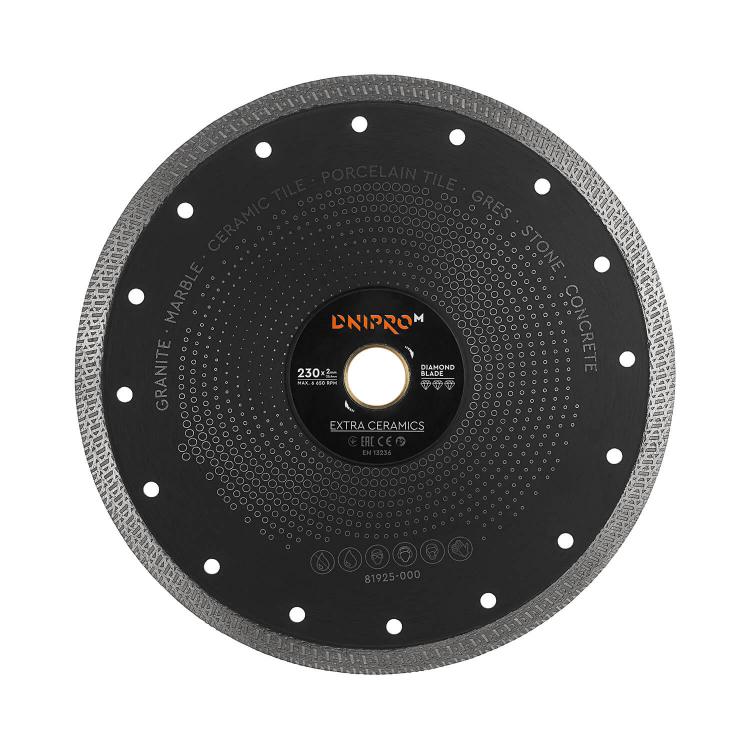 Шлифмашина угловая Dnipro-M GL-270 + Алмазний диск 230 25.4 Extra-Ceramics фото №7