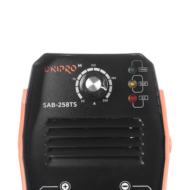 Сварочный аппарат IGBT Dnipro-M SAB-258TS + Шлифмашина угловая GS-100 фото №7