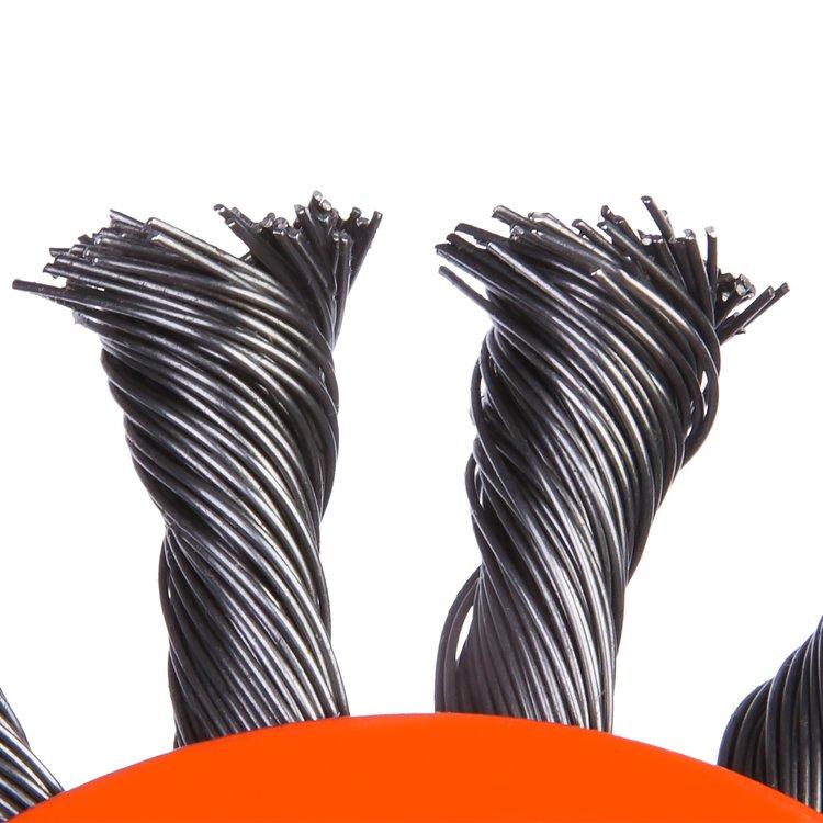 Щетка по металлу Дніпро-М 1003 конусная, плетенная пров. 115 мм фото №4