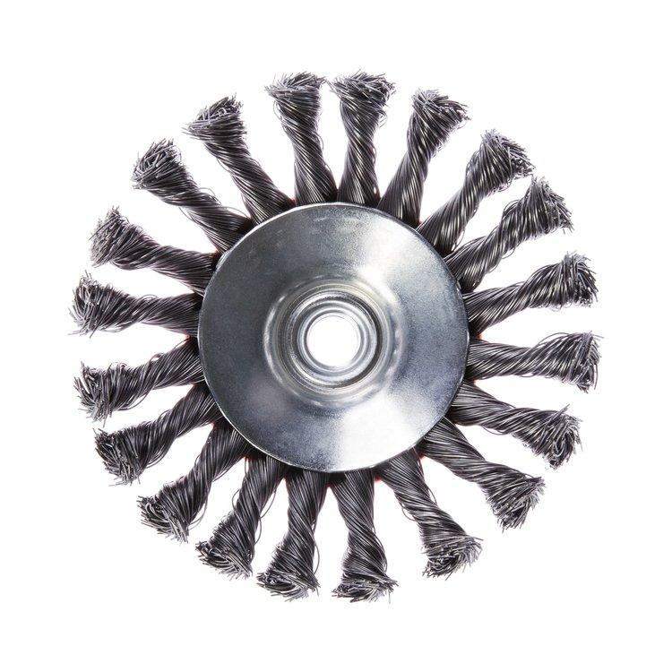 Щетка по металлу Дніпро-М 1004 конусная, плетенная пров. 125 мм фото №3