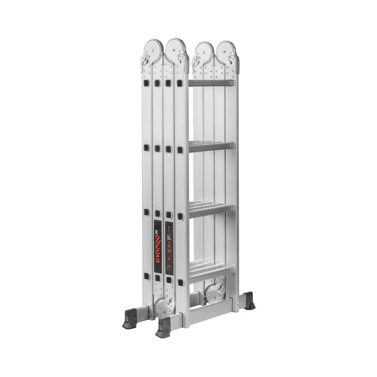 Лестница алюминиевая трансформер Dnipro-M MP-44Р 4,7 м + Нож сегментный Ultra 18 мм фото №4