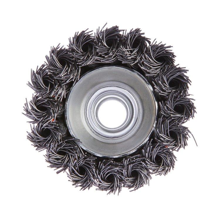 Щетка по металлу Дніпро-М 401 торцевая, плетенная пров. 65 мм фото №2