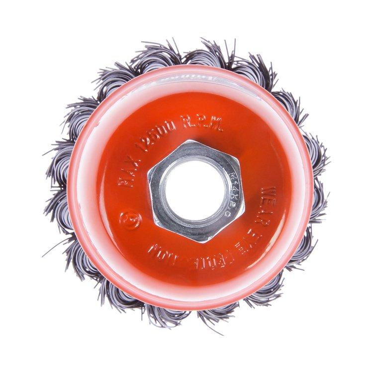 Щетка по металлу Дніпро-М 401 торцевая, плетенная пров. 65 мм фото №4